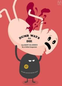 Dumb ways to die parady image